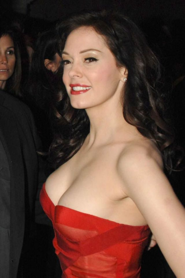 Rose McGowan Hot in Red