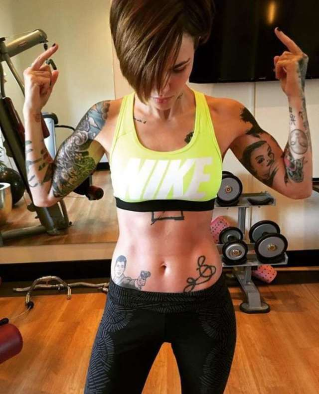 Ruby Rose on Workout