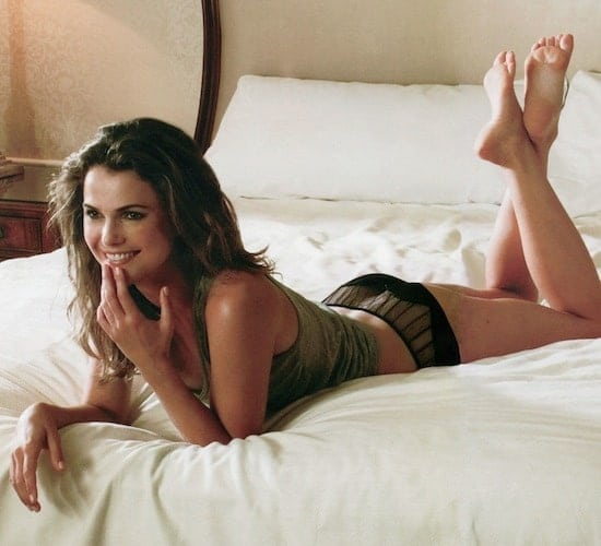 Keri Russell on Bed