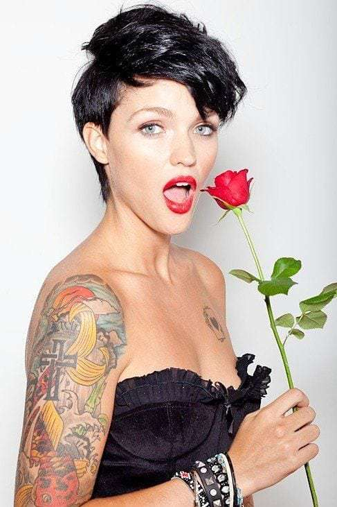 Ruby Rose Red Lips