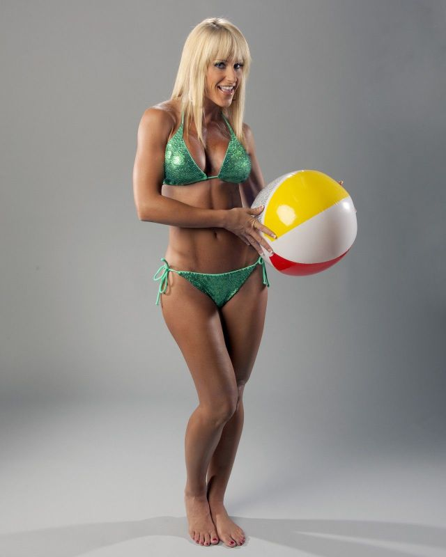 Michelle McCool playing Ball