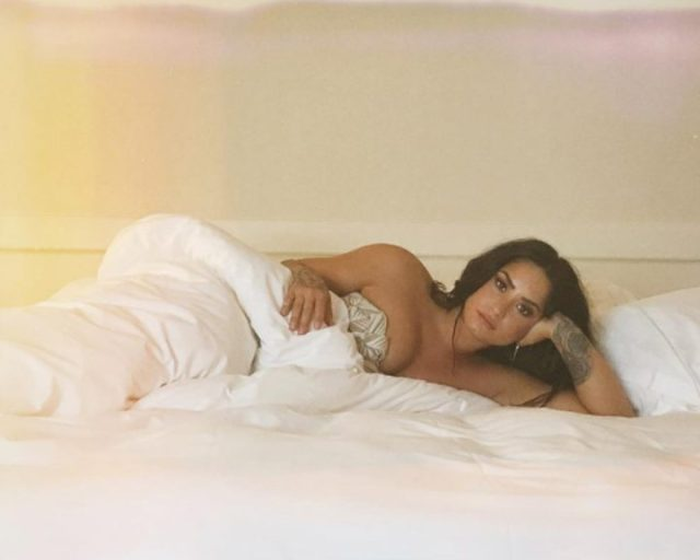 Demi Lovato on Bed