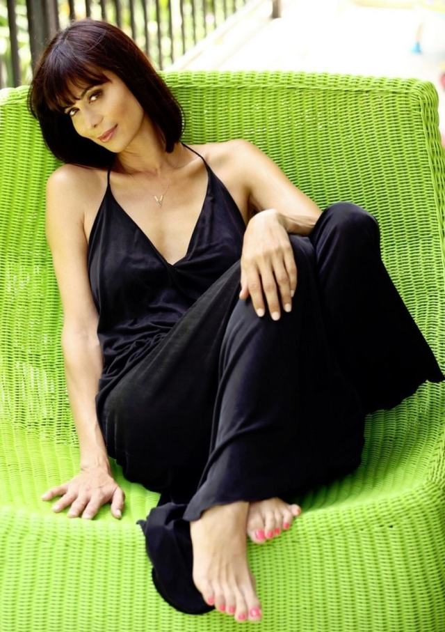 Catherine Bell Hot in Black