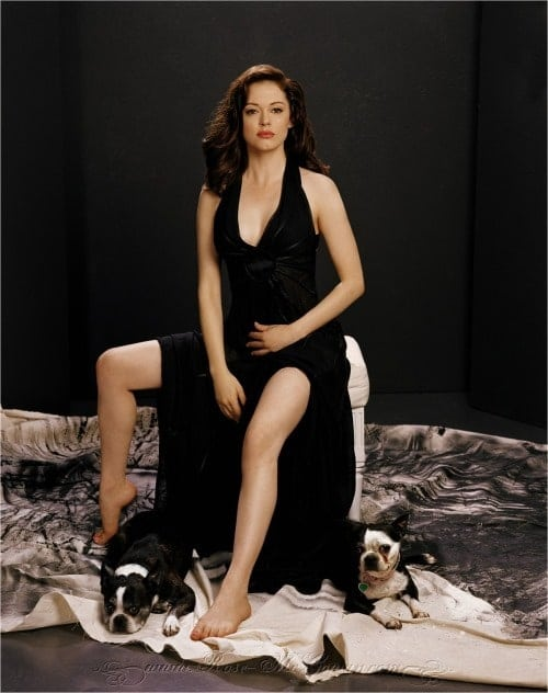 Rose McGowan Hot in Black