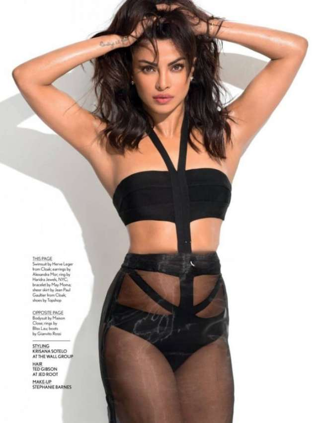 Priyanka Chopra Hot in Black