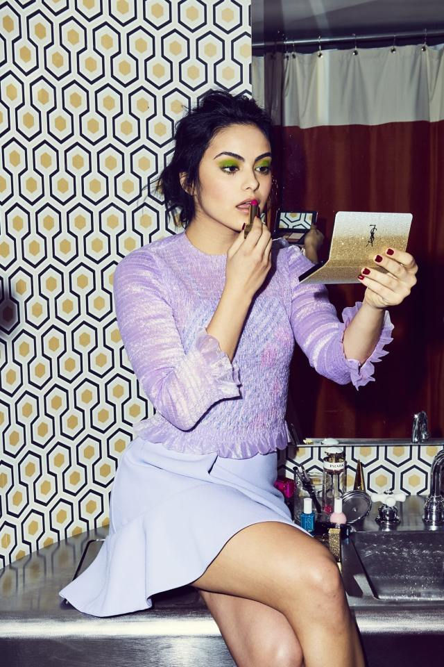 camila mendes during the makeup