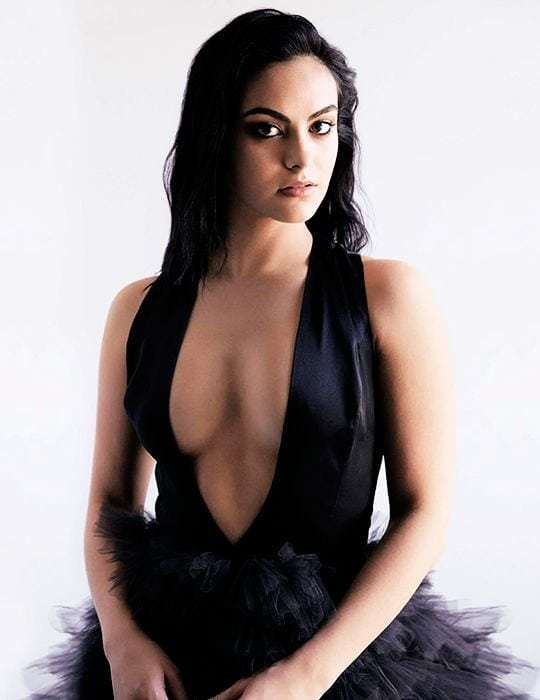camila mendes hot cleavage