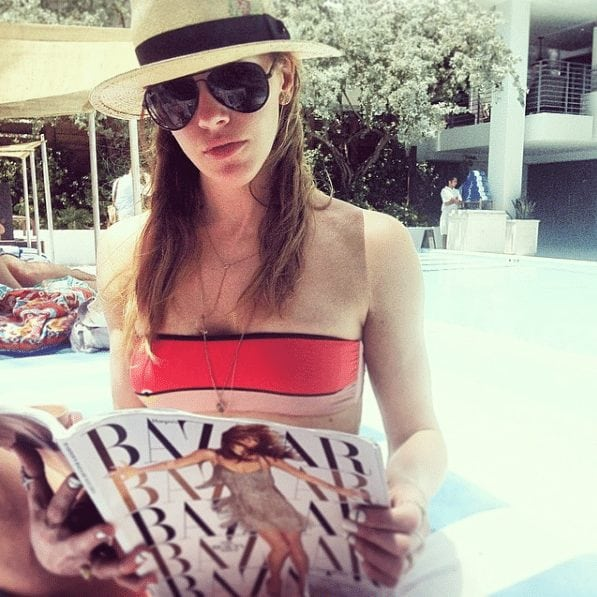 katie cassidy in swimming pool