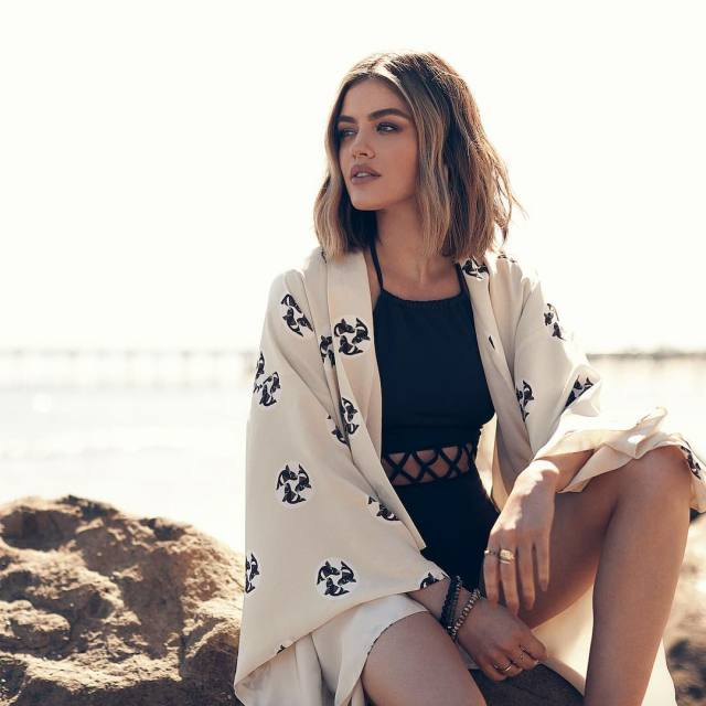 lucy hale beach pictures