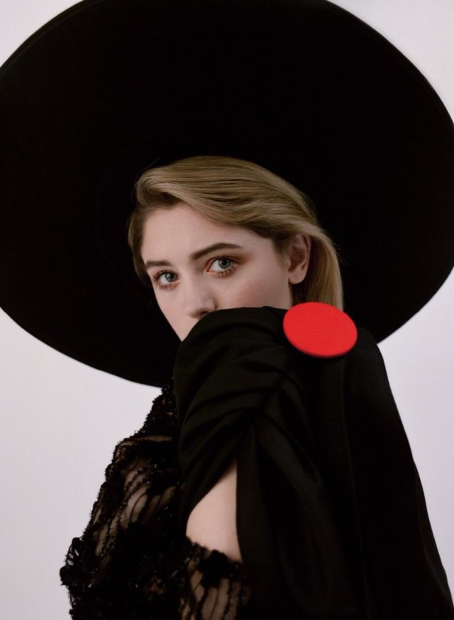 Natalia Dyer Hot in Black