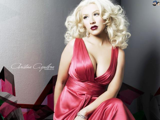 christina aguilera silk dress