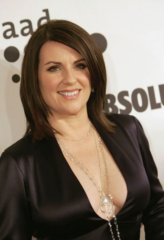 megan mullally sexy cleavage