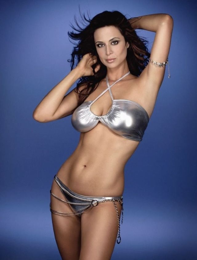 Catherine Bell Hot in Silver Colour Bikini