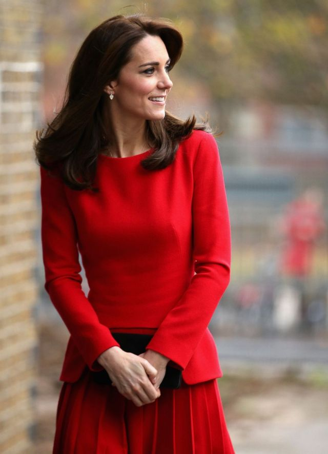 Catherine, Duchess of Cambridge Hot in Red Dress