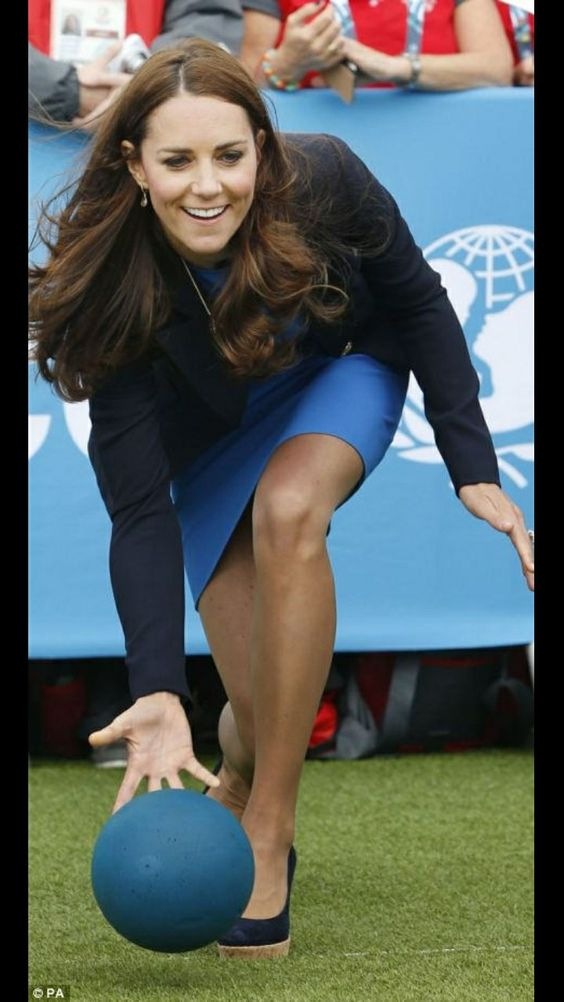 Catherine, Duchess of Cambridge Playing with Ball