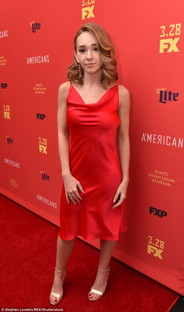 Holly Taylor sexy red dress