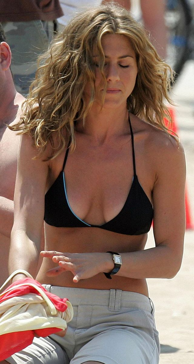 Jennifer Aniston on Black Bikini