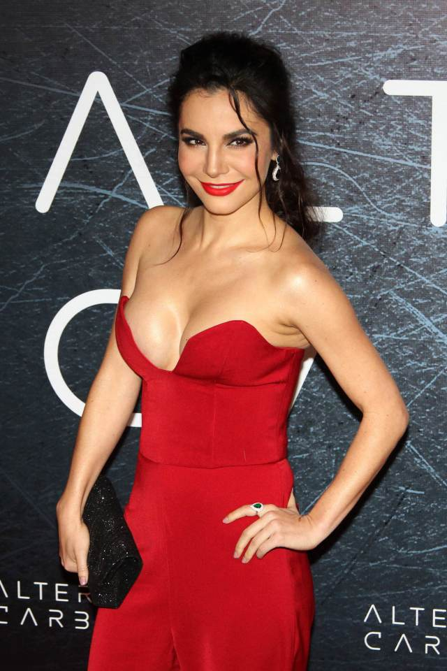 Martha Higareda Sexy in Red