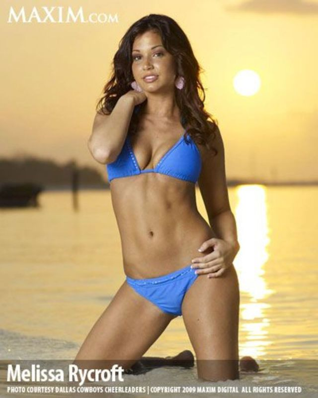 Melissa Rycroft Hot in Blue Bikini