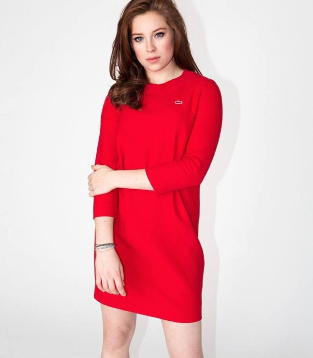Mina Sundwall Hot in Red
