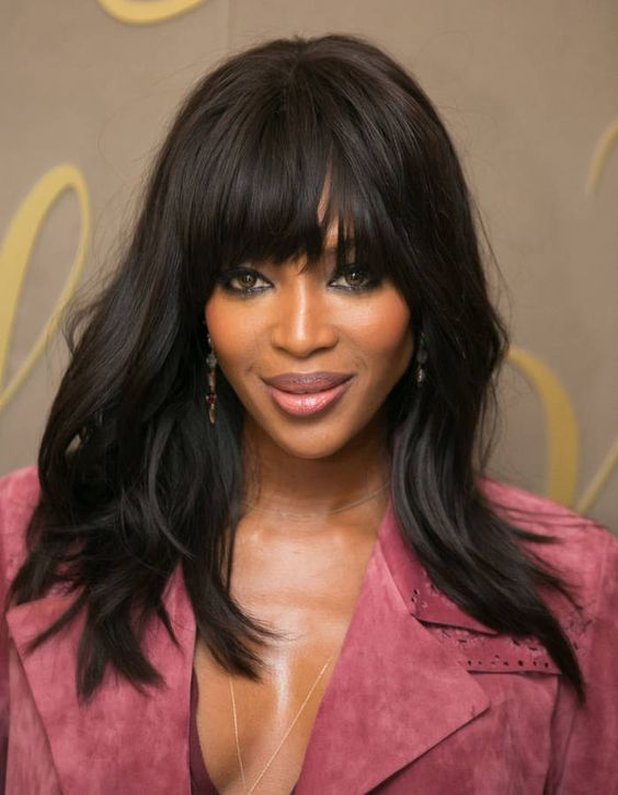Naomi Campbell on Short Hair