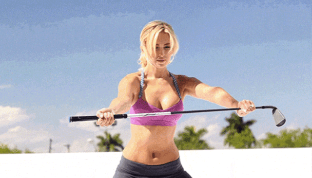 Paulina Gretzky awesome cleavages