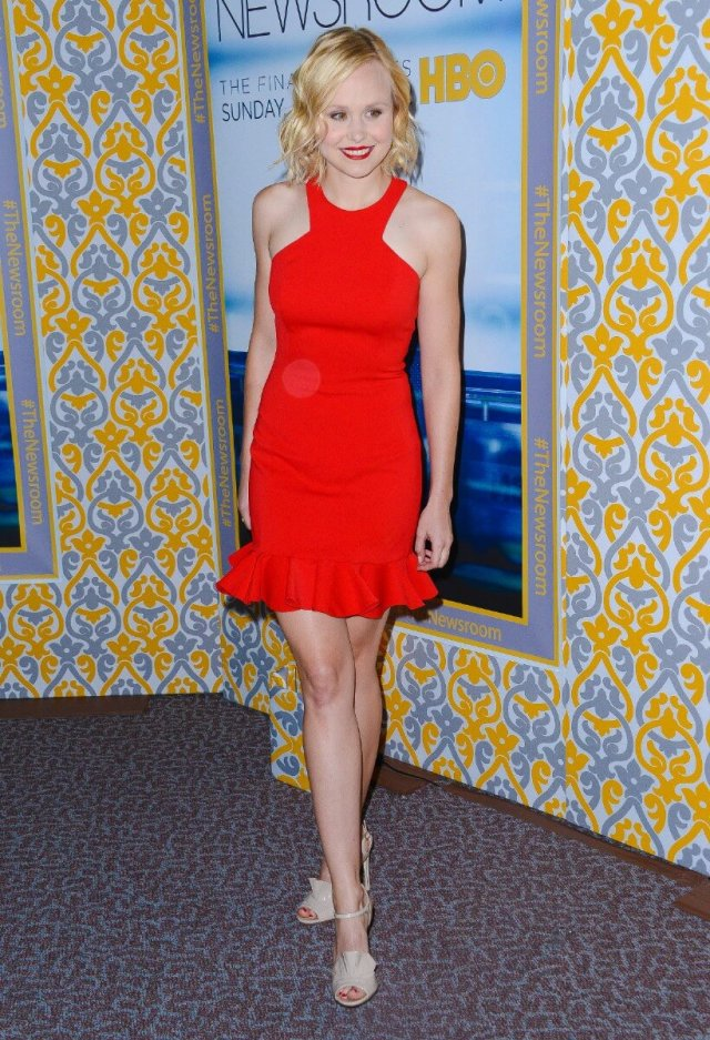 Alison Pill sexy red dress