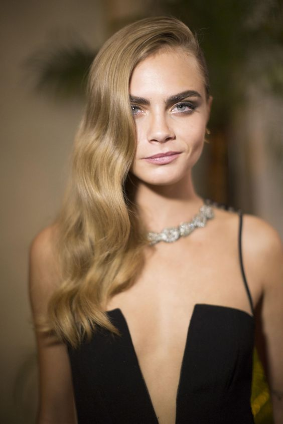 Cara Delevingne on Curly Hair