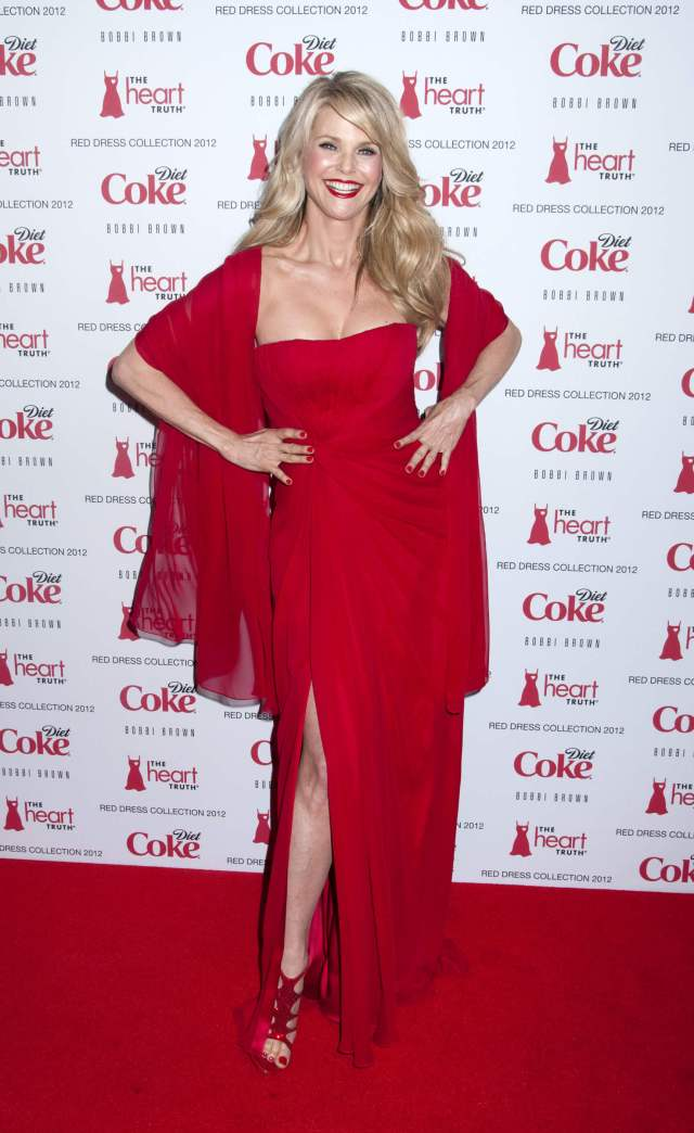 Christie Brinkley red hot pic