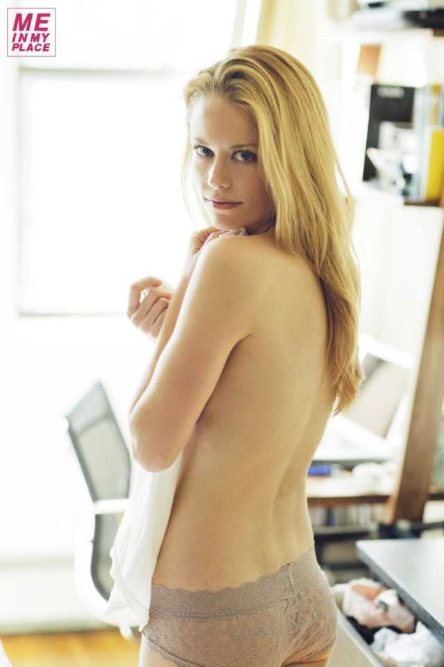 Claire Coffee hot back look