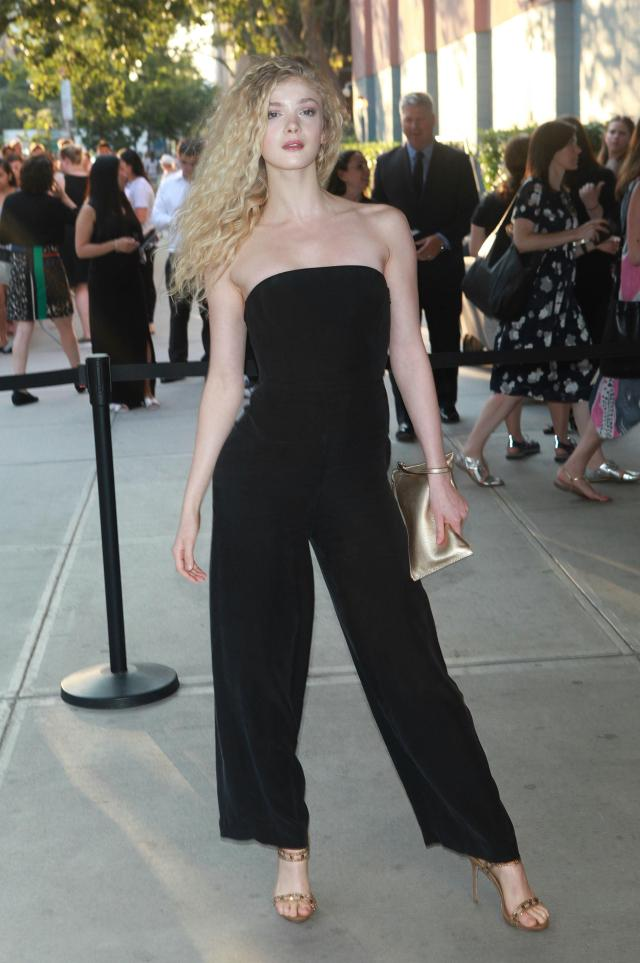 Elena Kampouris clack sexy dress