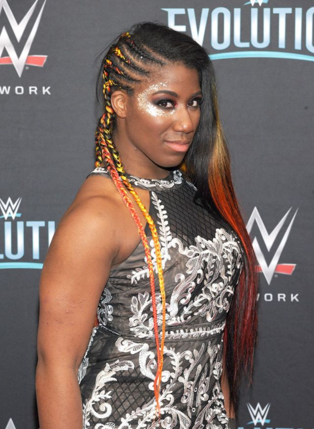 Ember Moon side boobs