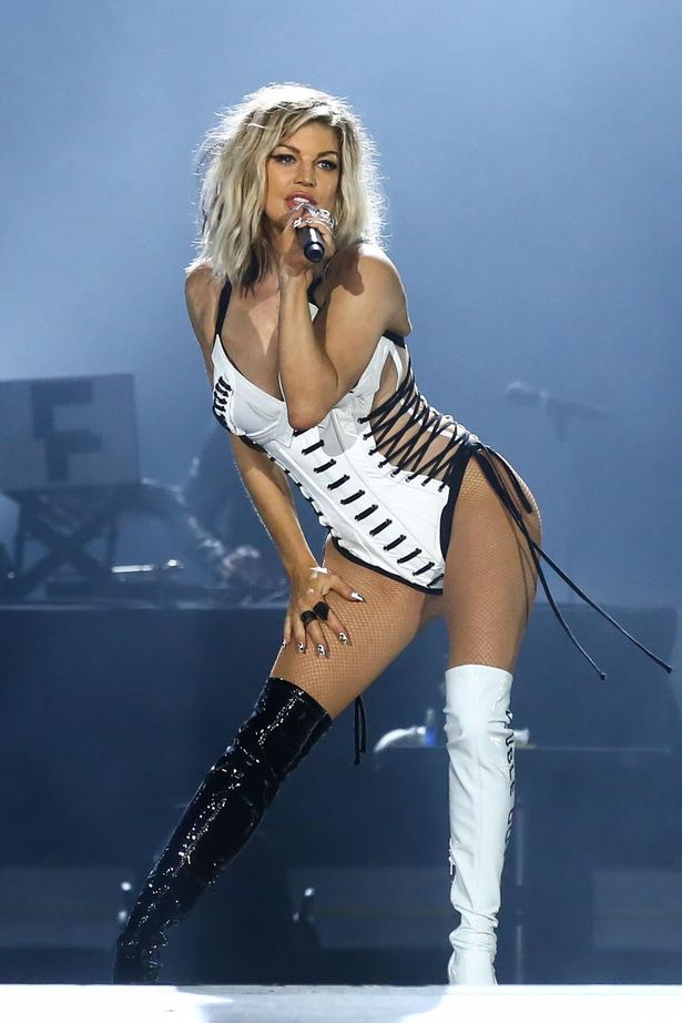 Fergie sexy white outfit