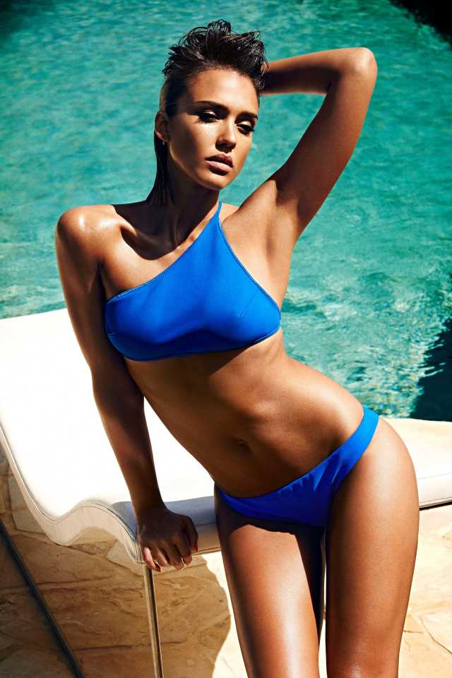 Jessica Alba Hot in Blue Bikini