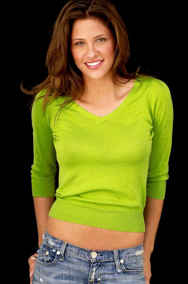 Jill Wagner Hot in Green Dress