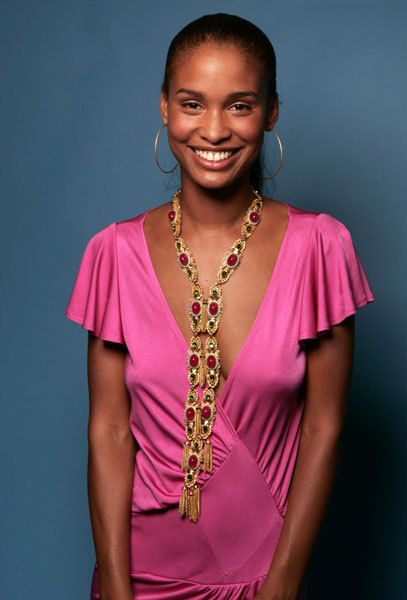 Joy Bryant Hot in Pink Dress