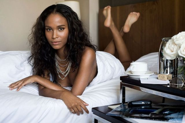 Joy Bryant on Bed
