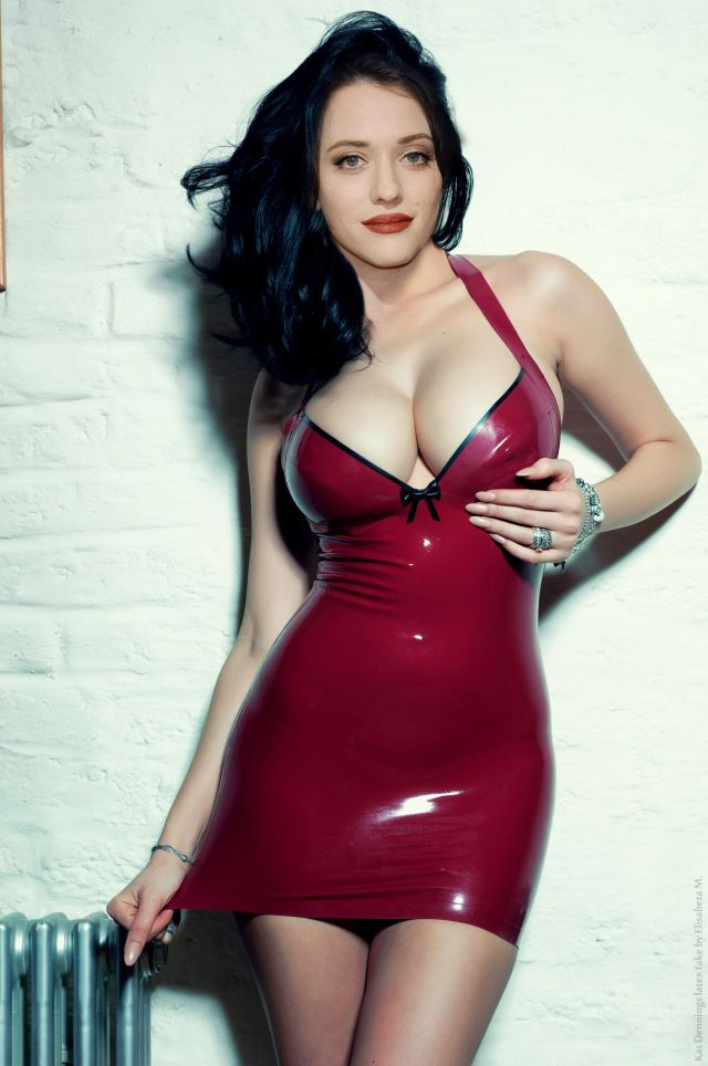 Kat Dennings hot boobs and thighs