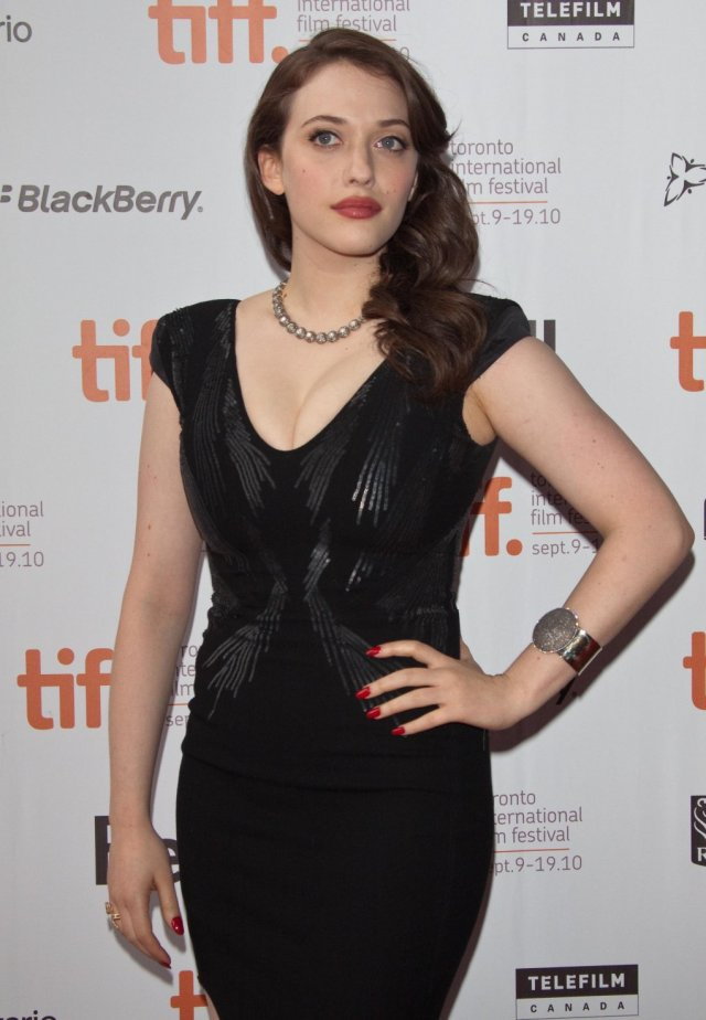 Kat Dennings hot in black