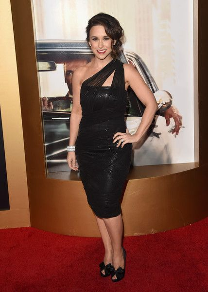 Lacey Chabert Hot in Black Dress