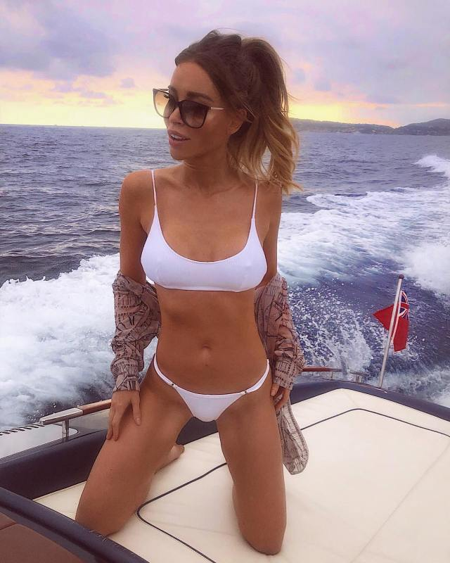 Lauren Pope Hot in White Bikini