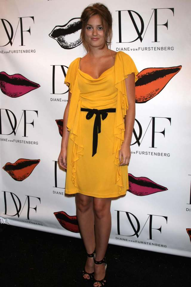 Leighton Meester hot yellow dress pic