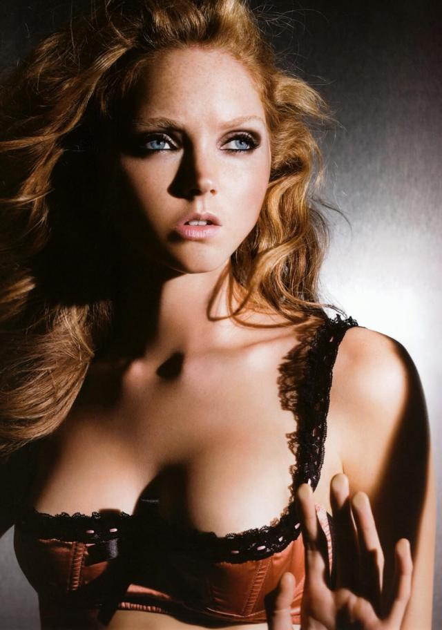 Lily Cole cleavage