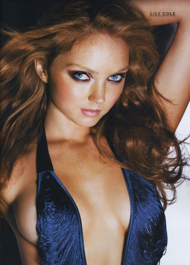 Lily Cole hot look