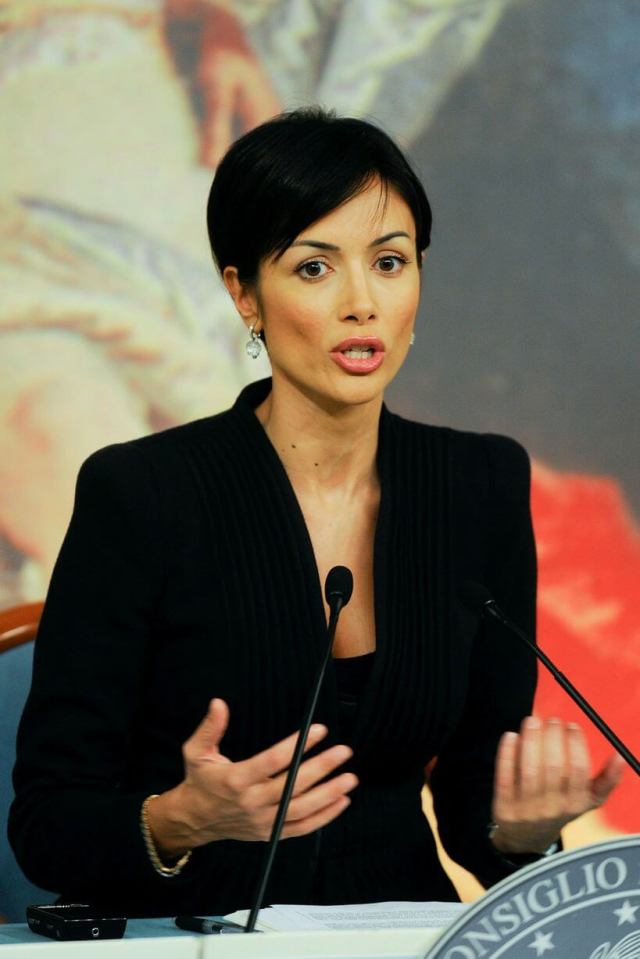Maria Rosaria Carfagna is an Italian politician and former showgirl and model