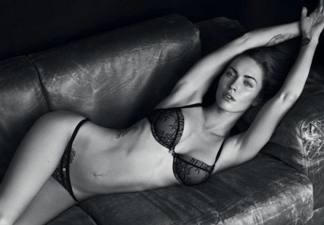 Megan Fox sexy in couch