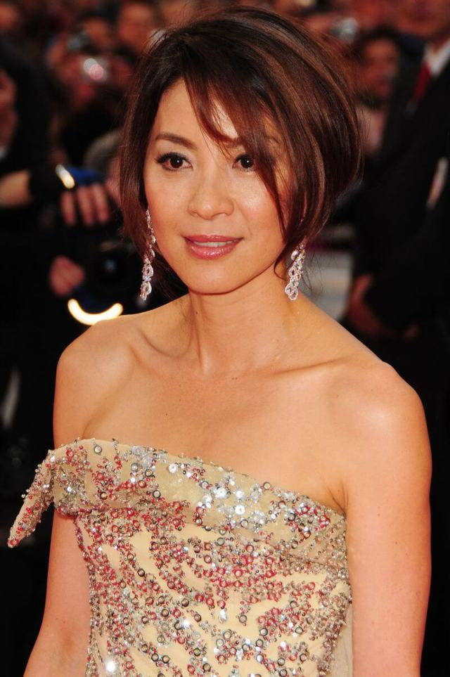 Michelle Yeoh hot cleavages pic