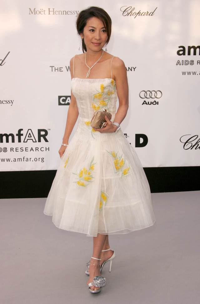 Michelle Yeoh white awesome dress
