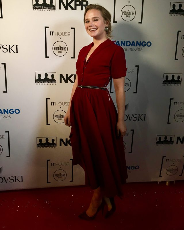 Niamh Wilson sexy red look