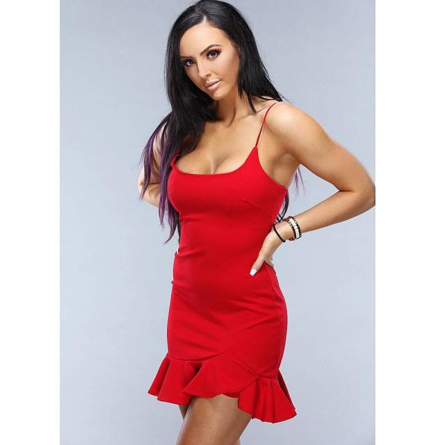 Peyton Royce Hot in Red Dress